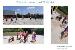 Volleyball –Wunsch und Wirklichkeit