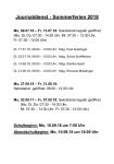 Schulbeginn und Öffnungszeiten Sekretariat Juli/August 2018
